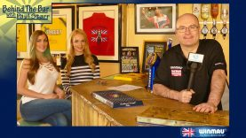 PDC Darts Walk on girls Daniella & Charlotte chat to Paul 'Behind the Bar'