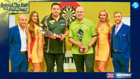 Players Championship Winner MvG, runner up Adrian Lewis & Max Hopp, the new PDC World Youth Champion