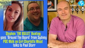 Stephen 'The Bullet' Bunting & PDC Walk On Girl Charlotte Wood Join Paul 'Behind the Bar'