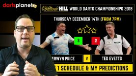 DAY 1 SCHEDULE & PREDICTIONS | WORLD DARTS CHAMPIONSHIP 2018 – WHAT ARE YOUR PREDICTIONS?