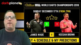 DAY 4 SCHEDULE & PREDICTIONS | WORLD DARTS CHAMPIONSHIP 2018 – WHAT ARE YOUR PREDICTIONS?