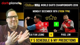 DAY 5 SCHEDULE & PREDICTIONS | WORLD DARTS CHAMPIONSHIP 2018 – WHAT ARE YOUR PREDICTIONS?