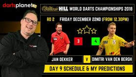DAY 9 | ROUND 2  SCHEDULE & PREDICTIONS | WORLD DARTS CHAMPIONSHIP 2018 – WHAT ARE YOUR PREDICTIONS?