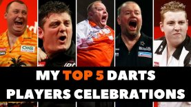 MY TOP 5 FUNNY DART PLAYERS CELEBRATIONS WITH FUNNY MUSIC ? | FUNNIEST DARTS MOMENTS