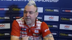 """Peter Wright """"I was nervous and scared but mentally great'   William Hill World Darts Championships"""