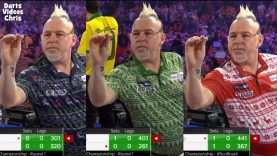 Peter Wright Wearing 3 Christmas Sweaters In 1 Game!