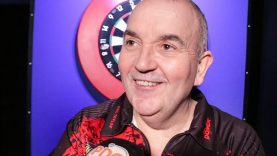 PHIL TAYLOR after a 3 1 Win against Chris Dobey   World Darts Championship Round 1