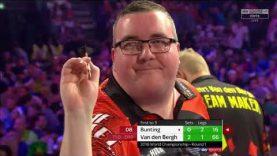 Van den Bergh vs Bunting.World Darts Championship. Last 2 sets.