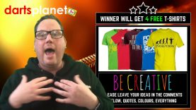Win 4 New Darts Planet TV T-Shirts With Your Idea | Be Creative & Get Involved