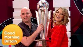 World Darts Champion Rob Cross Goes Head-to-Head With Charlotte Hawkins!   Good Morning Britain