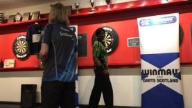 Trina Gulliver & Deta Hedman Exhibition With Winmau & Darts Scotland