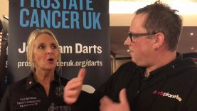 Tracy & Player Darts Supporting Prostate Cancer, What An Amazing Lasy