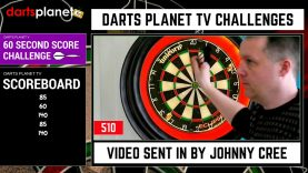 60 Second Darts Score Challenge By Johnny Cree – WOW – Must Watch