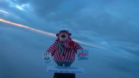 105,000FT + #SUPPORTWORLDDARTS #BULLYINSPACE – High Altitude Balloon – Condensed Version