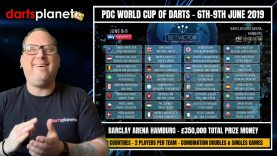 PDC World Cup Of Darts – Everything You Need To Know – Teams Announced