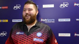 Michael Smith REACTS to STUNNING 113 average in win over Nathan Aspinall