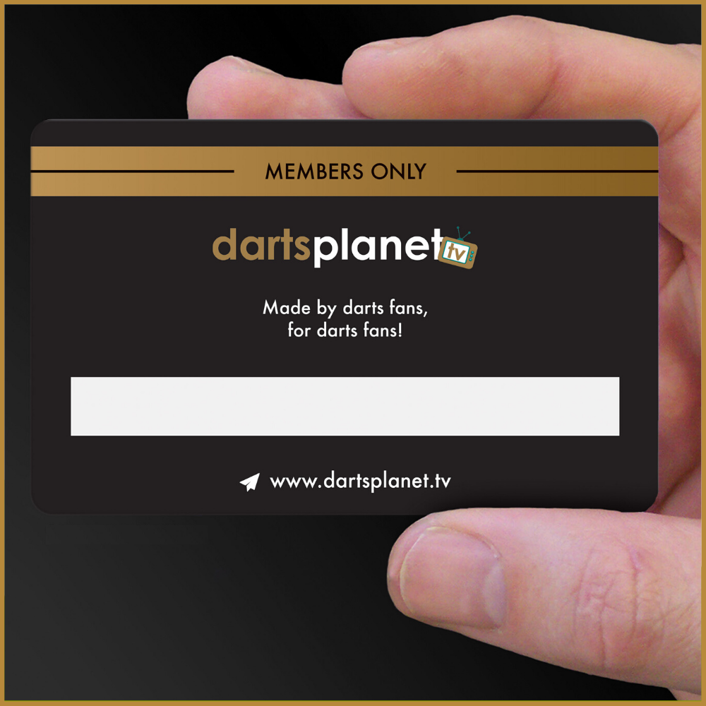 VIP Darts Planet TV Members Card
